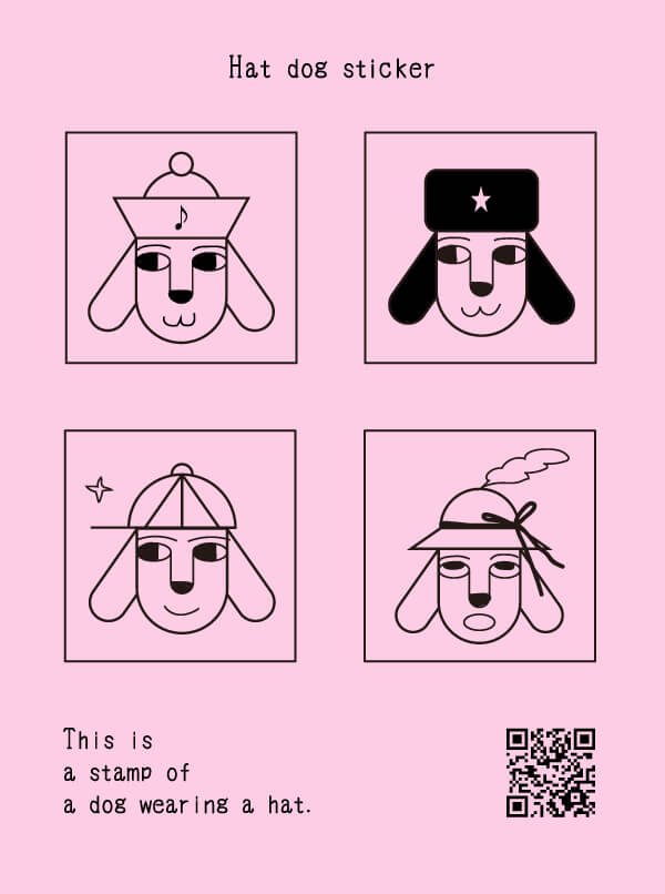 Hat dog sticker (Hat Friends)